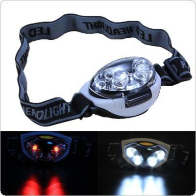 6 LED Waterproof HeadLight / HeadLamp / Torch Light with 3 Light Patterns
