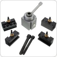 Mini Quick Change Tool Post Holder Kit Set for Table / Hobby Lathes