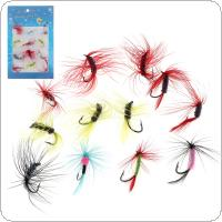 12pcs/lot Colorful Fly Fishing Lure Set Artificial Insect Bait Trout Fly Flies Butterfly Bait