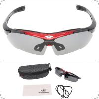 ROBESBON Bicycle Glasses PC Glasses Outdoor Cycling Eyewear Sunglasses Mountain Bike for Men Women Bicycle Glasses