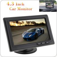 4.3 Inch 480 x 272 Color TFT LCD Screen 2 Channel Video Input Car Rear View Monitors Support Multi Role Display