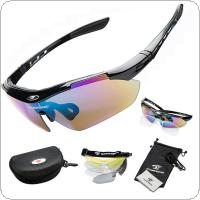 ROBESBON Bike Professional Cycling Glasses Sports Sunglasses Myopia Eyewear UV400 5 Lens
