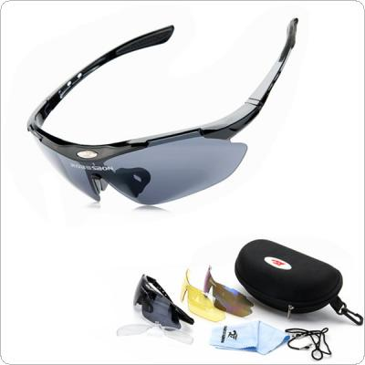 ROBESBON Bike Professional Polarized Cycling Glasses Sports Sunglasses UV400 3 Lens