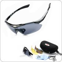 ROBESBON Bike Professional Cycling Glasses Sports Sunglasses UV400 3 Lens