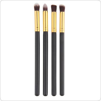 4PCS Foundation Blush Blending Eyeshadow Brush Makeup Tools Cosmetics Golden