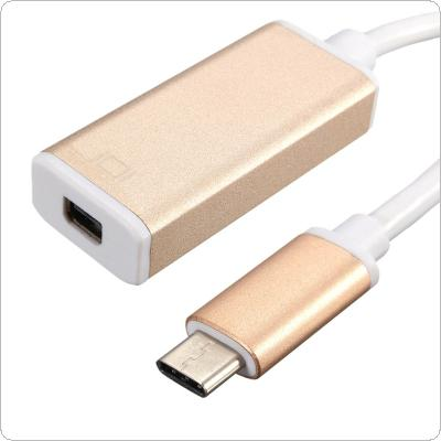 18.2CM Compact USB 3.1 Type-C To Mini DP Adapter for Smartphone and for Macbook