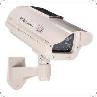 Plastic Simulation Security Camera with Flashing LED Light Deter Criminals for Indoor / outdoor