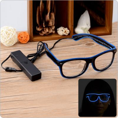 Blue + Black Party / Concert 3-Mode Sound Control LED Glasses with Controller