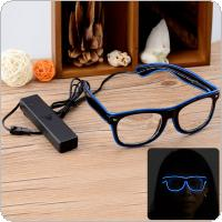 PC Frame Adjustable Wearing  Eyeglass Magnifier with LED Lights and  Controller for Party / Concert