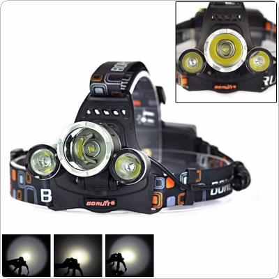 6000LM 3x XM-L T6 LED Headlamp Head Torch Lamp Headlight Flashlight