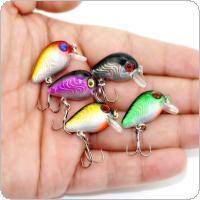 1PCS Mini Fat Crank Fishing Lure 30mm 1.5g Highly Simulated Rock Fishing Hard Bait Lures Swimming Depth 0.1~0.3M 10# Hook