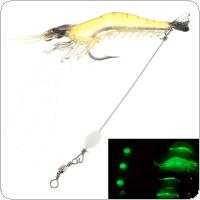 7.5cm 6.6g 3 Colors Luminous Fishing Soft Lures Artificial Highly Simulated Shrimp Soft Plastic Fishing Baits