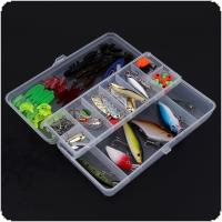 Super Value 101pcs Almighty Fishing Lures Kit with Mixed Hard Lures and Soft Baits Minnow Lures Accessories Box