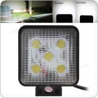 4 Inch 12V/24V 1000LM 15W Waterproof Square LED Work Light for Motorcycle / Tractor / Boat / 4WD Off Road / SUV / ATV