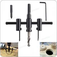 30mm-120mm Alloy Steel Adjustable Circle Hole Cutter Set with Wood Plastic Hole Saw Drill Bit Tools for Woodworking