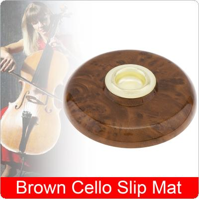 1pcs Lip Pad Cello Instrument Accessories with Metal Eye Brown Cello Slip Mat Pin Stopper