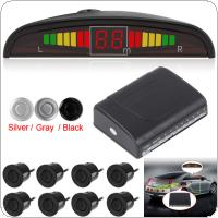 Omnibearing & Intelligent Parking Assistance System Contain Visual Digital LED Display & 8 Sensors
