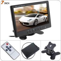 HD 800 x 480 Super Thin 7 Inch Color TFT LCD 2 Channels Video Input Car Rear View Monitor