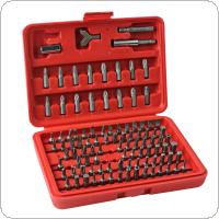 Chrome Vanadium 100pcs Security Screwdriver Tamper proof Torx Hex Bit Set W / Case