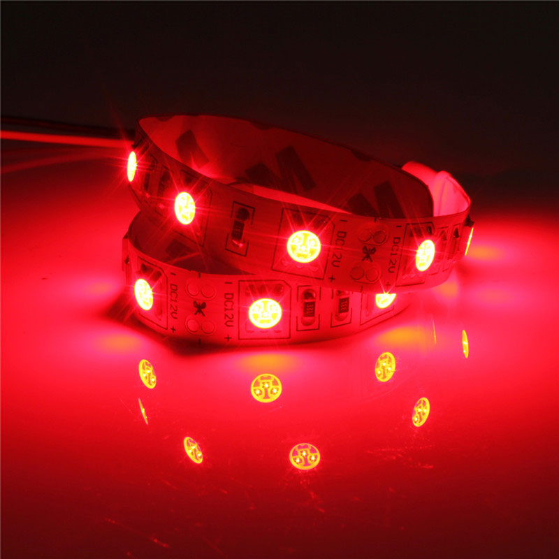 25CM SMD 5050 Non-Waterproof LED Flexible Strip Light PC Computer Case Adhesive Lamp 12V