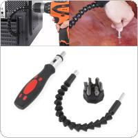 Multifunction Snake Drill Bit Extender Extends reach up to 12 inches with Ratchet Tool  + Circular Screw Driver Heads