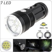 3 Modes Waterproof 2100 Lumens 7 x XM-L T6 LED Super Bright Flashlight for Camping
