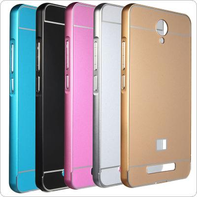 Metal Frame Bumper Acrylic PC Back Cover Case for Xiaomi Redmi Note 2