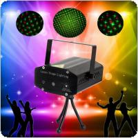 Black Mini Red Green Light Auto / Voice Xmas DJ Disco LED Laser Stage Light Projector + Remote
