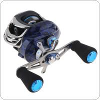 Double Brake Baitcasting Reel 14+1BB 5KG / 11LB Water Drop Wheel Bearings Fishing Reel with Right / Left Hand