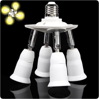 4 In 1 Adjustable E27 Base Light Lamp Bulb Adapter Holder Socket Splitter