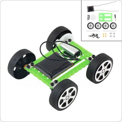 1Pcs Mini Solar Toy DIY Car Children Educational Puzzle IQ Gadget Hobby Robot