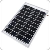 10W 18V Cell Solar Panel Module Battery Charger RV Boat Camping 1.4M Cable