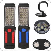 Super Bright USB Charging 36+5 LED Flashlight Work Light Magnetic+HOOK+Mobile Power For Phone Outdoor Camping
