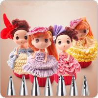 Stainless Steel 7pcs One piece molding Flower Icing Piping Nozzles Tips Pastry Cake Baking Tool