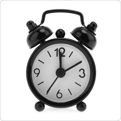 Home Outdoor Portable Cute Mini Cartoon Dial Number Round Desk Alarm Clock