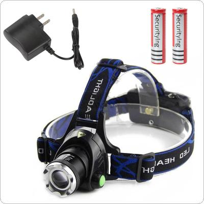 2000LM XM-L T6 LED Headlamp Headlight Flashlight Head Light Lamp + 2 x Batteries + Charger