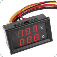 YB27VA  DC 0-100V/10A  Red LED Dual Display Ammeter Voltmeter Volt Amp Meter for Cars / Motorcycles