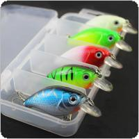 Minnow Lures 5 Colors 7.5cm 7g Crankbait Simulation Bait Fishing Gear
