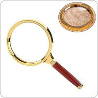 5X 90mm Handheld Adjustable Magnifier Magnifying Glass Loupe for Reading and Inspection
