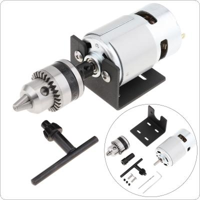 12-24V 775 Lathe Press Motor with B10 Drill Chuck and Mounting Bracket