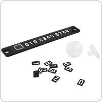 Temporary Car Parking Card Magnetic Phone Number Card Plate Sucker Car Sticker Black