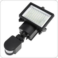 Waterproof IP44 100 SMD LED 5W Solar Powered Sensor Security Light Motion Outdoor Garden Flood Lamp