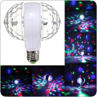 6W E27 110v 220v Colorful Auto Rotating RGB Crystal Stage Light Magic Double Balls DJ Party Disco Effect Bulb Lamp
