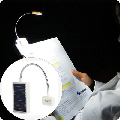 Mini Solar LED Book Light Clip Multi-Use Adjustable Led Table Lamp For Music Stand or Book Reading Light