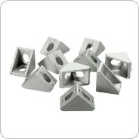 10pcs 20x20mm Aluminium Corner Joint Right Angle Bracket Furniture Fittings