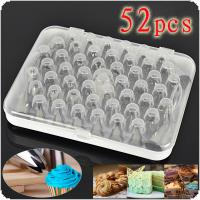 52Pcs/Set Icing Piping Pastry Fondant Cake Decorating Sugar Craft Nozzle Tips