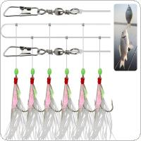 27# FishSkin Lure Hook Each String of 6 Luminous Skin Hooks with Fishy Smell