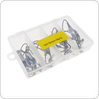 25pcs Crank Lead Hooks Springs Barbed Soft Bait Hook Suits