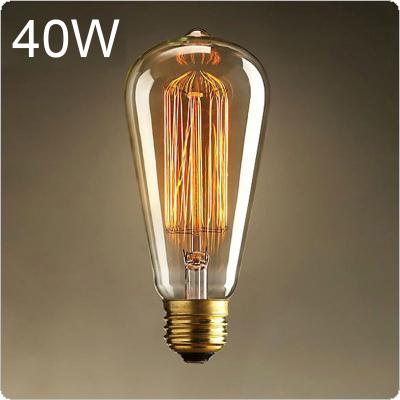 E27 25W Edison Light Bulb Incandescent Bulb ST64 Retro Edison Lights Pendant Decoration Bulb Filament Bulb 110V/220V