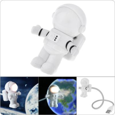 Astronaut Spaceman USB LED Adjustable Night Light for Computer PC Lamp Creative Flexible USB LED Lamp